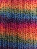 Lenço feito malha arco-íris Fotos de Stock