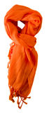 Lenço isolado no fundo branco Opinião superior do lenço escumalhas alaranjadas Fotos de Stock Royalty Free