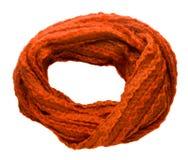 Lenço isolado no fundo branco Opinião superior do lenço escumalhas do gengibre Foto de Stock