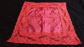 Lenço laçado do vintage vermelho brilhante imagem de stock royalty free