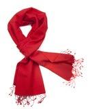 Lenço ou pashmina vermelho imagens de stock royalty free