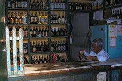 Drink Bar at Lençois, Chapada Diamantina. Lençois, Bahia/ Brazil - July 6, 2005. streets of Lençóis city royalty free stock photography