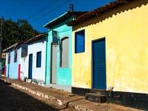 Streets of Lençois chapada DIamantina, Brazil. Lençois, Bahia/ Brazil - July 6, 2005. streets of Lençóis city royalty free stock images