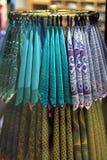 Lenços coloridos Fotografia de Stock