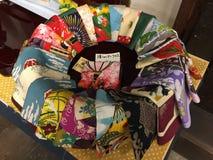 Lenços de seda japoneses Fotografia de Stock Royalty Free