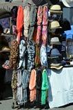Lenços e chapéus Foto de Stock