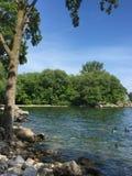 Len Ford Park et le lac Ontario dans le beau jour d'été à Toronto, Ontario, Canada Summer2018 photo stock