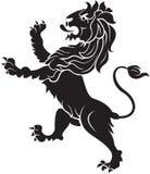 León heráldico Imagen de archivo libre de regalías