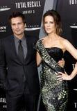 Len Wiseman and Kate Beckinsale Royalty Free Stock Photos