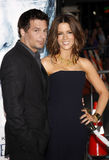 Len Wiseman and Kate Beckinsale Stock Images