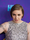 "Lena Dunham. Arrives on the red carpet for the New York premiere of the third season of the hit HBO cable comedy ""Girls,"" at Jazz at Lincoln Center Stock Images"
