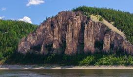 Lena filarów park narodowy Fotografia Royalty Free