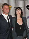 Lena Headey, Sean Bean. Game of Thrones stars Sean Bean & Lena Headey at the 2011 Spike TV Scream Awards at Universal Studios, Hollywood. October 15, 2011 Los Stock Image