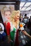 Lena Lenina en la mascarada veneciana del traje Foto de archivo libre de regalías