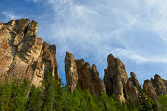 Lena Pillars, bank of Lena river, Yakutia Royalty Free Stock Photography
