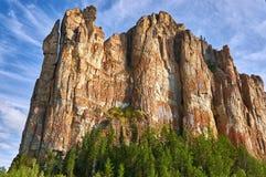 Lena Pillars National Park no tempo do por do sol Fotos de Stock