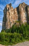 Lena Pillars National Park no tempo do por do sol Imagem de Stock Royalty Free