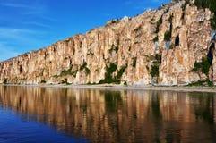 Lena Pillars National Park no tempo do por do sol Imagens de Stock Royalty Free