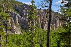 Lena Pillars National Park, vista da maneira de cobrir Fotografia de Stock Royalty Free