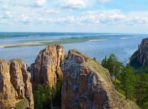 Lena River (parco nazionale Fotografia Stock Libera da Diritti
