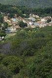 Lencois Bahia Brazil Hillside Village. Hillside village of Lencois spread across green mountains in Bahia Brazil stock photography