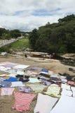 Lencois Bahia Brazil Laundry on Rocks Royalty Free Stock Images