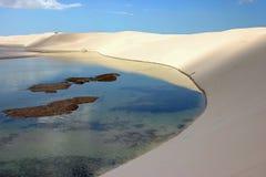 Lencois Maranhenses, Brazil. Salt lake and dunes at the Lencois Maranhenses, Maranhao, Brazil Stock Images