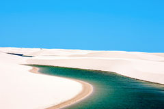 Lencois Maranheses national park brazil Royalty Free Stock Images