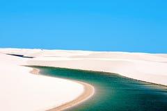 Lencois Maranheses nationalpark Brasilien royaltyfria bilder