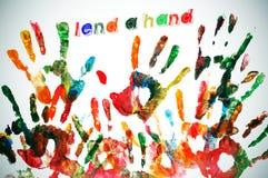 Lend a hand Stock Photo