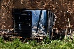 Lendemain de l'incendie Photos libres de droits