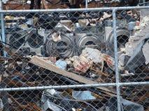 Lendemain de six alarmes Dallas Fire Images libres de droits