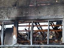 Lendemain de six alarmes Dallas Fire Photos libres de droits
