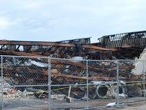 Lendemain de six alarmes Dallas Fire Photo libre de droits