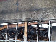 Lendemain de six alarmes Dallas Fire Image libre de droits