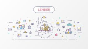 Lender infographics concept. Royalty Free Stock Image