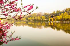 Lender west lake in morning. Slender west lake is a well-known scenic spot in China. It is situated in the northwest suburb of Yangzhou City. It is a scenic area royalty free stock photo