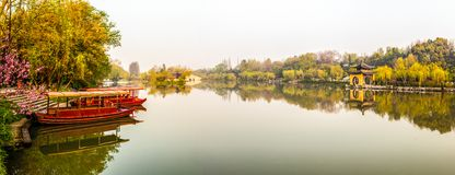 Lender west lake in morning Royalty Free Stock Photography