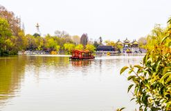 Lender west lake in spring Royalty Free Stock Image