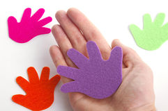 lending руки Стоковая Фотография