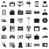 Lending icons set, simple style. Lending icons set. Simple style of 36 lending vector icons for web isolated on white background Royalty Free Stock Images