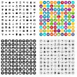 100 lending icons set vector variant. 100 lending icons set vector in 4 variant for any web design isolated on white Stock Photography
