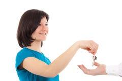 Lending the key Stock Photography
