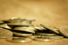 Lending, wealth, money coins Stock Image