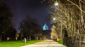 Lene Voigt park, Leipzig, Niemcy Obraz Stock