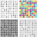 100 lenend vaardigheidspictogrammen geplaatst vectorvariant Royalty-vrije Stock Foto