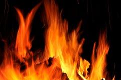 Lengüetas del fuego Fotos de archivo libres de regalías