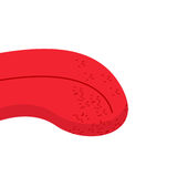 Lengüeta humana Cuerpo humano rojo Parte del cuerpo en boca Lengua roja adentro Fotografía de archivo libre de regalías