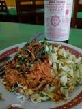 Lengko de Nasi & x28; rice& x29 do lengko; fotografia de stock