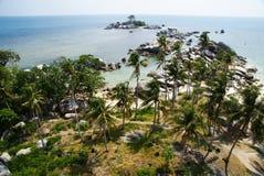Lengkuas-Insel, Belitung, Indonesien lizenzfreie stockfotos